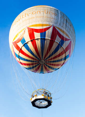 BOURNEMOUTH, UNITED KINGDOM – DECEMBER 28: The Balloon, highest attraction of the town on December 28, 2014. The balloon offers spectacular panoramic view of the English Channel and surrounding area for up to 20 miles.