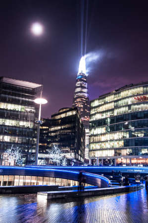 Shard building in central London - light show in New Years Eve 2015
