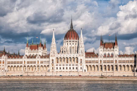 Budapest, Hungary, 05 September 2016 - Building of the Hungarian parliament on the bank of river Danube, Budapest, Hungary