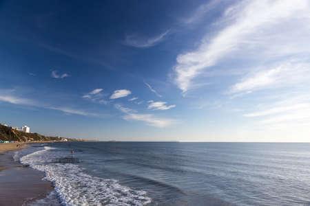 Bournemouth beach, Dorset on the English south coast