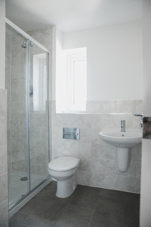 Close up shot of an en suite bathroom in a new home.