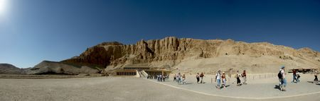 Hatshepsuts mortuary temple complex (The original of this image has the size 10280x3260) photo