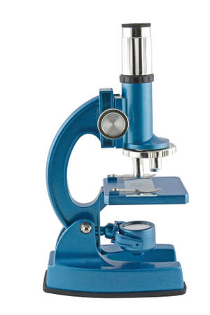 Close-up of a blue microscope isolated on a white background Stock Photo - 2510831
