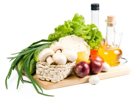 Fresh vegetables isolated on a white background. Clipping path included. Stock Photo - 3051110