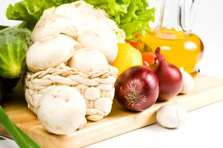 Fresh vegetables isolated on a white background. Stock Photo - 3083367