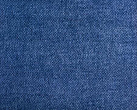 Qualitative blue fabric texture. Abctract background. Close up. Stock Photo