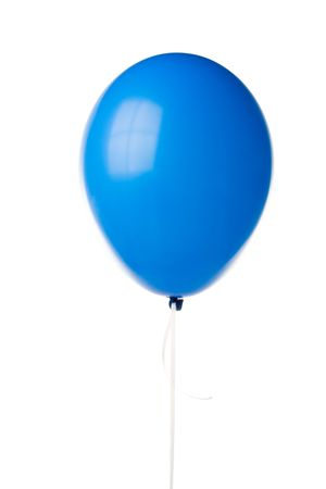 Blue party balloon isolated on a white background.  Stock Photo - 3221929