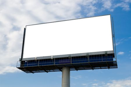 proclamation: Outdoor advertising billboard with blank space for text
