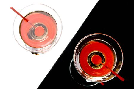 Martini with red cherry in a glass Stock Photo - 3221948