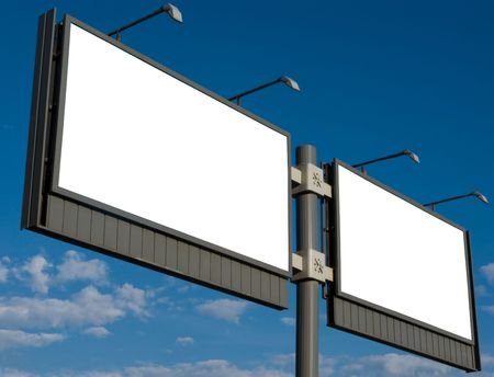 Outdoor advertising billboard with blank space for text Stock Photo - 3314385