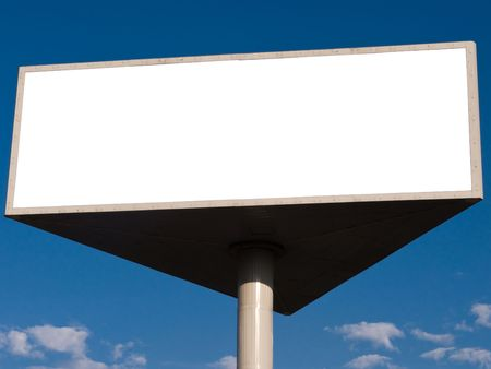 Outdoor advertising billboard with blank space for text Stock Photo - 3314377