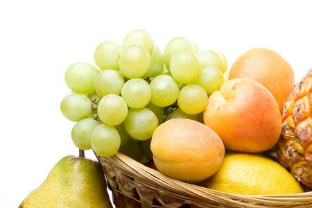 Still life with fresh fruits. Close up. photo
