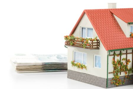 downpayment: Miniature House and .rBuying house concept