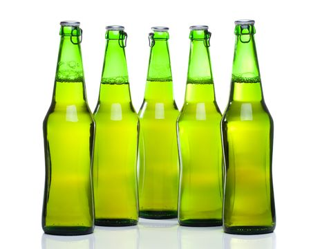Beer in a bottle on a white background Stock Photo - 3394099