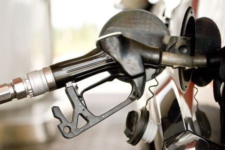 refilling: Refilling the car with a gas pump