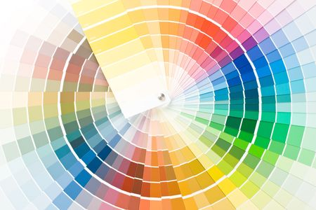 Résumé de la couleur guide. Close up.