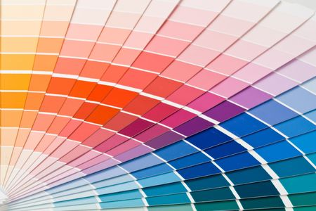 Abstract background from color guide. Close up. Stock Photo - 3645283