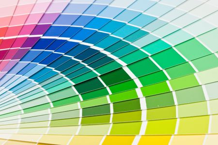 Abstract background from color guide. Close up. Stock Photo - 3645291