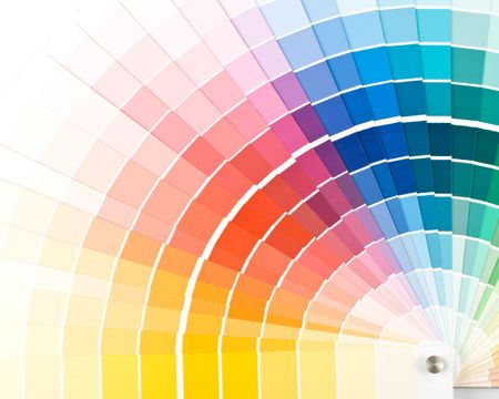 Abstract background from color guide. Close up. Stock Photo - 3645261