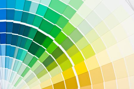 Abstract background from color guide. Close up. Stock Photo - 3702238