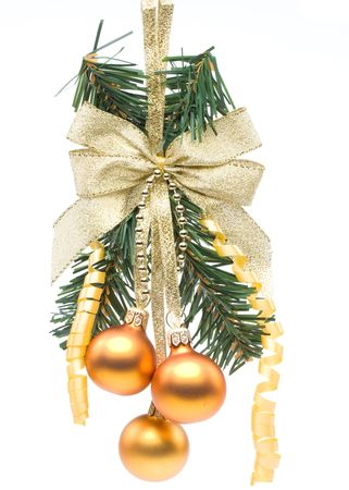 New Year's and Christmas decoration on a white background Stock Photo - 3702269