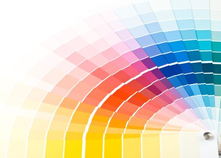 Abstract background from color guide. Close up. Stock Photo - 3775503