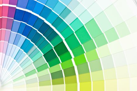 Abstract background from color guide. Close up. Stock Photo - 3790079