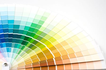 Abstract background from color guide. Close up. Stock Photo - 3807549