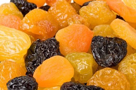 Background from various appetizing dried fruits photo