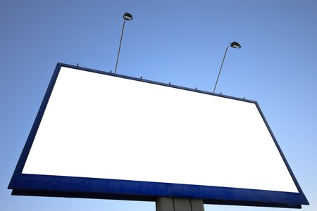 Outdoor advertising billboard with blank space for text photo
