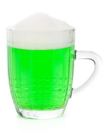 Mug of Green beer for St Patricks Day photo