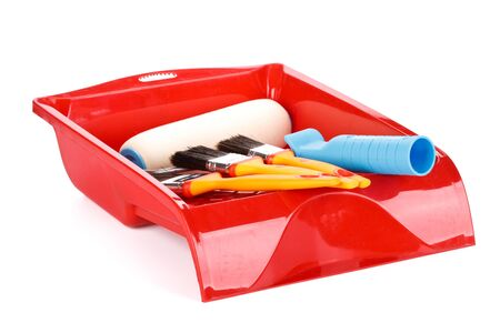 Various painting tools on a white background Stock Photo - 4472751