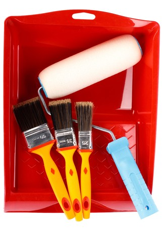 Various painting tools on a white background Stock Photo - 4507450