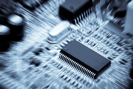 Computer circuit board. Close up. Abstract background. Stock Photo - 4524856