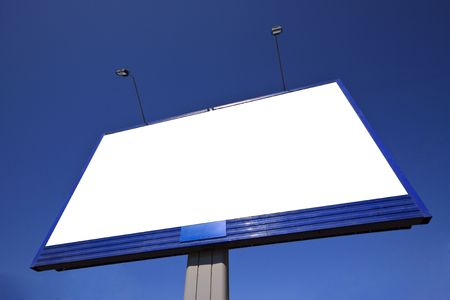 Outdoor advertising billboard with blank space for text Stock Photo - 4837702