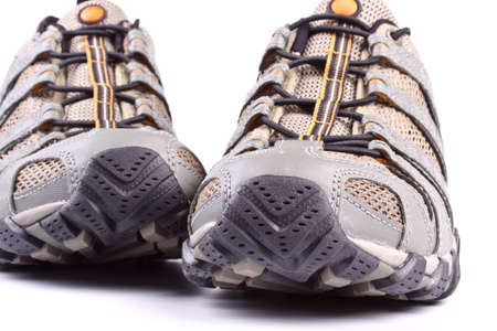 A pair of jogging shoes on a white background photo