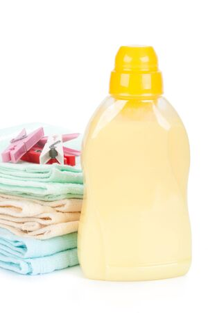 household goods: Bathroom towels and household goods on a white background