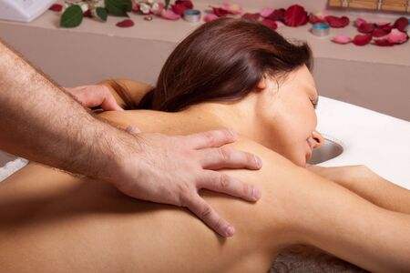 Young beautiful woman on massage procedure in salon Stock Photo - 6661943