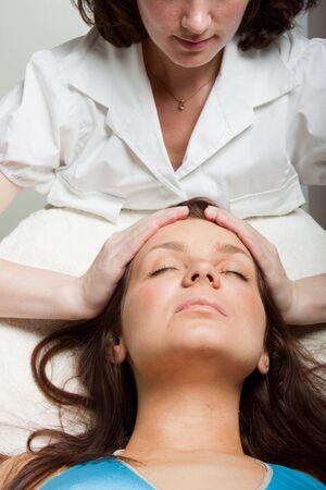 Procedure of facial massage in spa salon. Stock Photo - 7002145