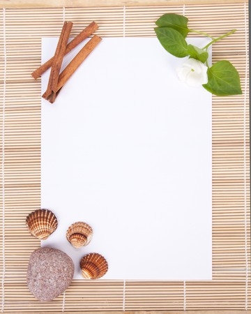 Advertising blank in style of Spa salon on a white background. photo