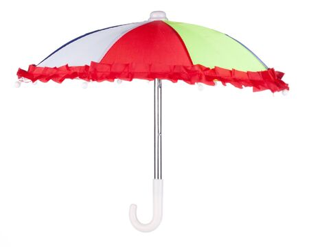Colorful umbrella on a white background Stock Photo - 7232643