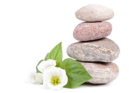 Spa composition on a white background.