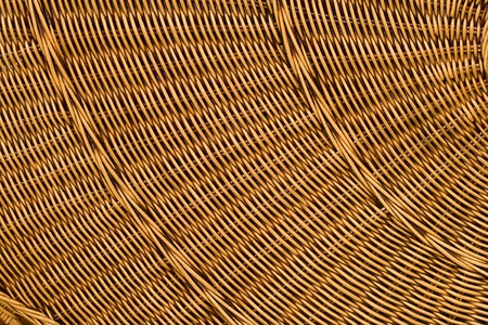 Abstract background from natural rattan. Handmade weaving. photo