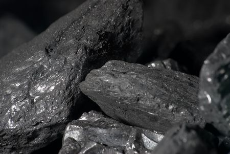 calorific: A macro photo of bits of carbon
