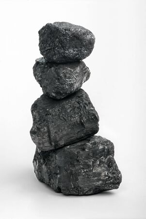 calorific: Bits of carbon on a white background (carbon totem)