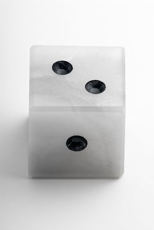 gambling stone: Marble dice on a white background Stock Photo