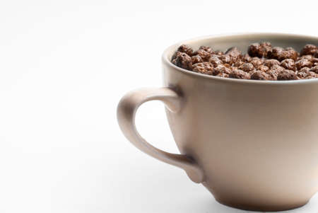 A bowl of chocolate flakes with milk. Very healthy. Stock Photo - 2852886