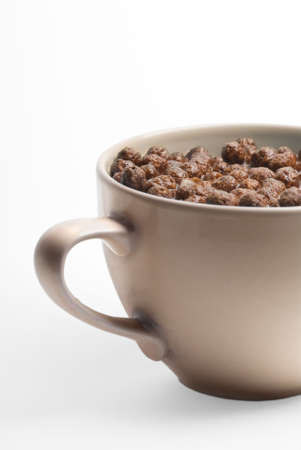 A bowl of chocolate flakes with milk. Very healthy. Stock Photo - 2852879