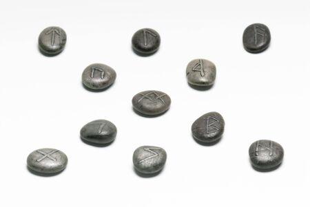 Viking runes on a white background. photo