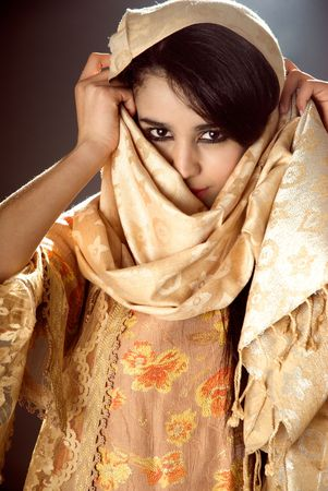 Arabian girl wearing traditional dress  photo